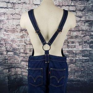 Levi's Jeans - Levi's SuperLow Pure Blue Overalls Size 7